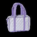 Cтильная стеганая сумка с внутренним карманом на молнии и удобная...